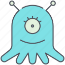 alien, extraterrestrial, monster, scary, space, ufo, visitor icon