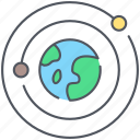 astronomy, cosmos, galactic, milky way, planets, solar system, space icon