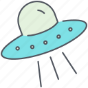 alien, extraterrestrial, flying, saucer, space, ufo, visitors icon