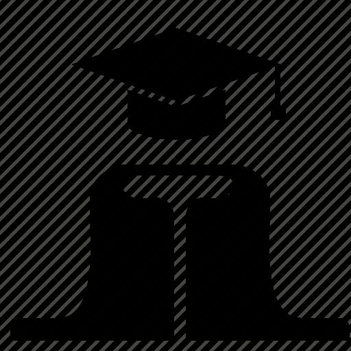 hat, level, phd, professor, student icon