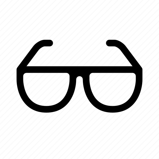 Glasses, eye, view icon