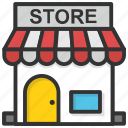 retail shop, shop, market store, store, shopping store