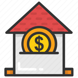 asset pricing, building value, house price, property value, real estate icon