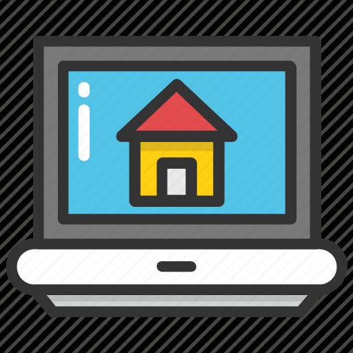 home screen, online estate, online property, online real estate, real estate icon