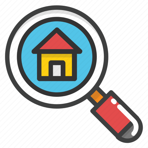 find property, house hunting, house search, property search icon