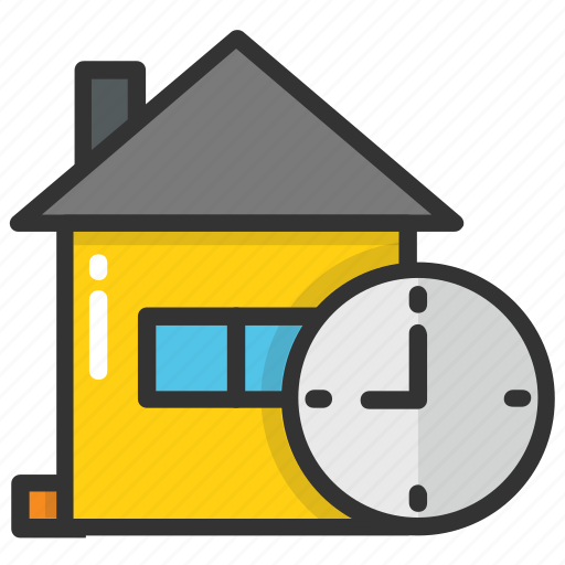 clock house, clock tower, cost of house, home with clock, school building icon