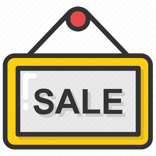 hanging sign, sale advertisement, sale signboard, sign bracket, signage icon