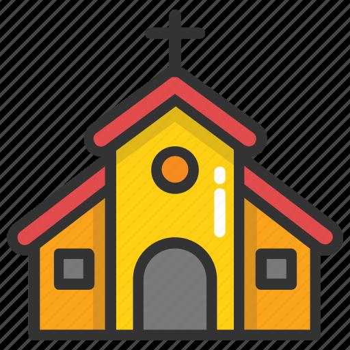 chapel, church, church facade, religious building, religious place icon