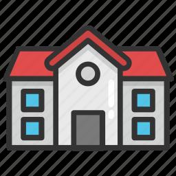 building, institute, real estate, school, university icon