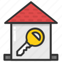 home access, home key, house key, house security, real estate icon