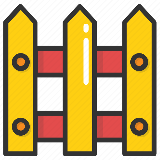 Barricade, fence, palisade, railing, wooden palisade icon - Download on Iconfinder