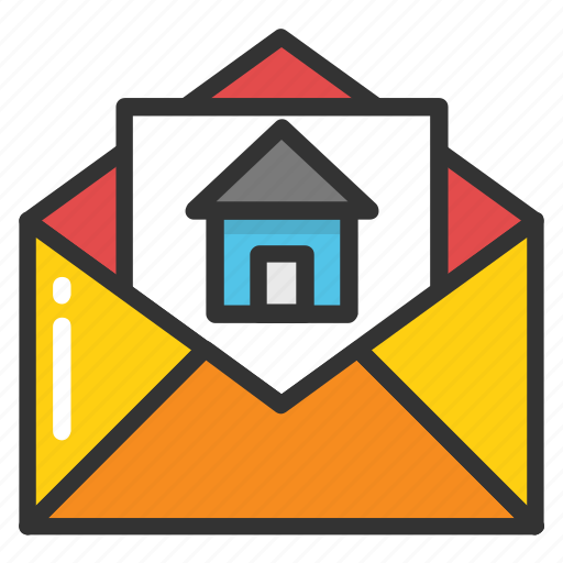 house investment, mortgage loan, mortgage papers, property email, property papers icon