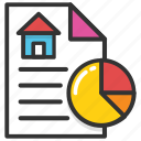 estate graph, house value, property graph, property value, property value graph report icon