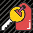house key, key, key fob, keychain, keyring icon