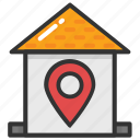 home location, house map pin, house pointer, map pointer house, residential place icon