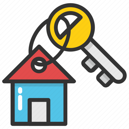 Home key, house key, house security, key chain, real estate icon - Download on Iconfinder