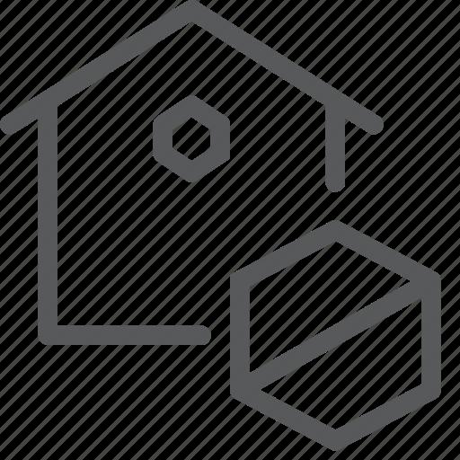 block, estate, home, house, no access, real, remove icon