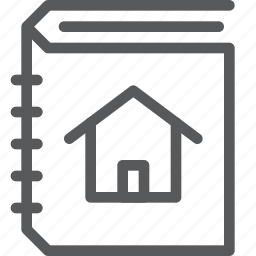 address, book, contacts, estate, home, house, list, real icon