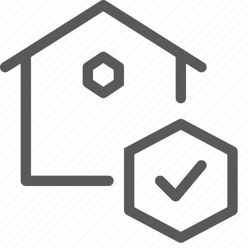 approved, check, done, estate, home, house, real icon