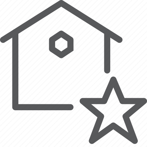 bookmark, estate, favorite, home, house, real, save, star icon