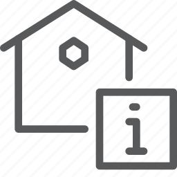 estate, home, house, info, information, real, support icon