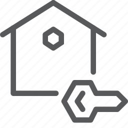 estate, home, house, key, lock, owner, real, unlock icon