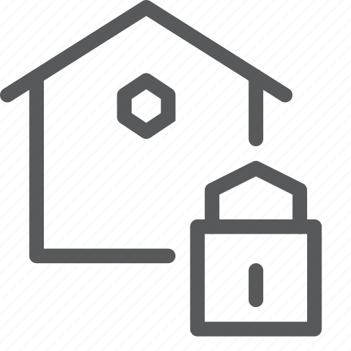 create, estate, home, house, lock, real, secure icon