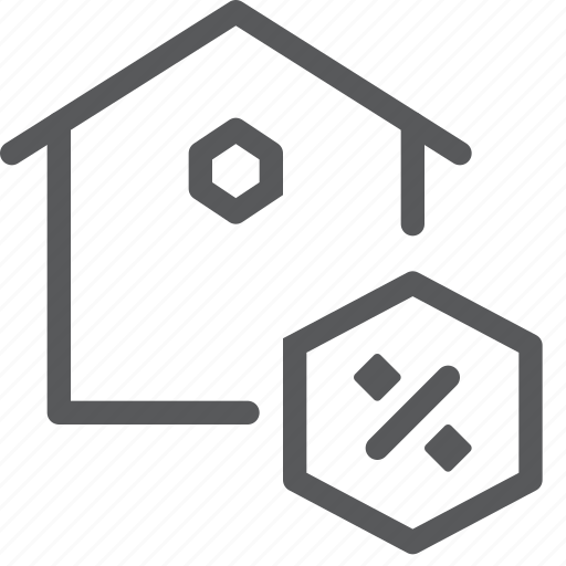 discount, done, estate, home, house, percentage, real icon