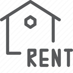 estate, for, home, house, real, rent, sign icon