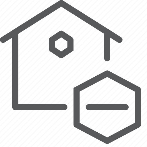 estate, home, house, minus, real, remove, sell, subtract icon