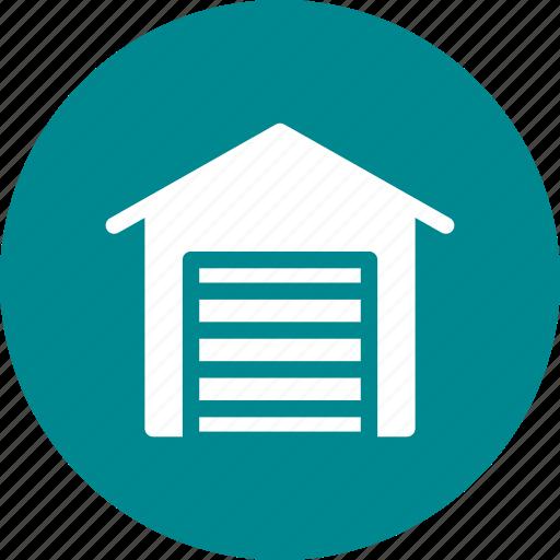 building, car, garage, home, house icon