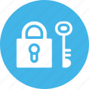 key, padlock, protection, security icon