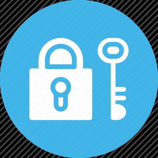 key, padlock, protection, security icon
