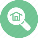 find, home, house, loop, real estate, search icon