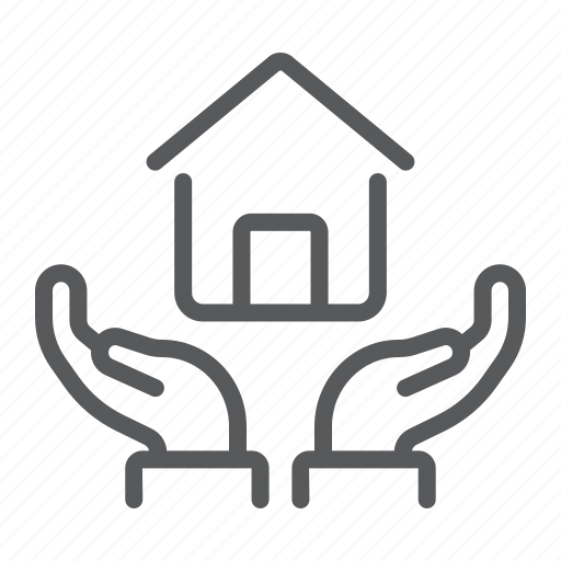 build, estate, hand, home, insurance, protection, real icon