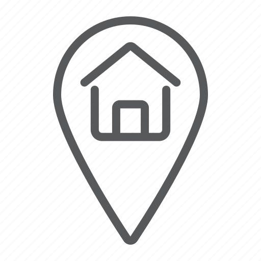 estate, home, location, map, pin, pointer, real icon