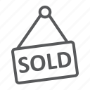 business, estate, home, real, sold icon