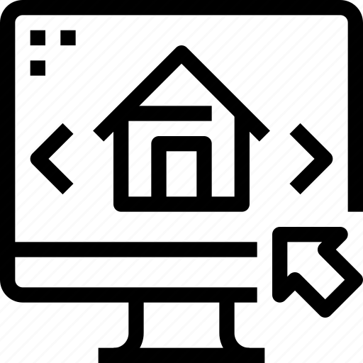 computer, household, property, real estate, sale icon