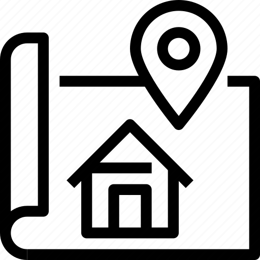 Location, map, property, real estate icon - Download on Iconfinder