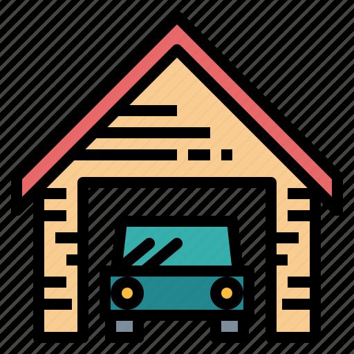 car, garage, house, parking icon