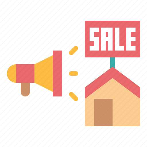 advertise, advertising, megaphone, sale icon