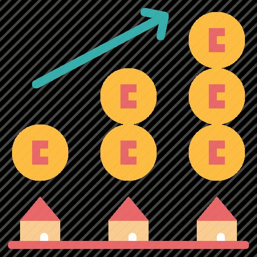 graph, money, stat, value icon