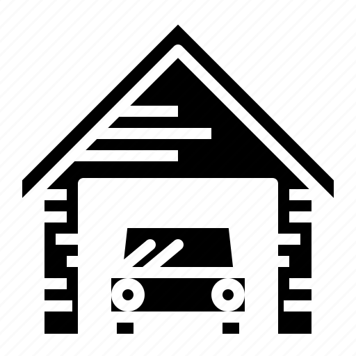 car, garage, house, parking icon