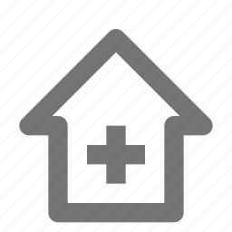 add, building, estate, home, house, new, plus, property icon