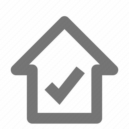 building, check, estate, home, house, property, select icon