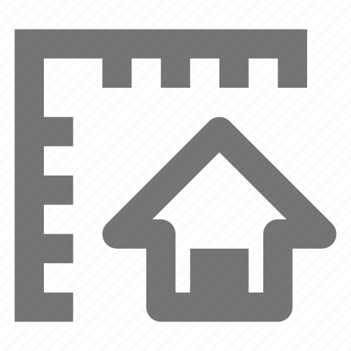home, house, measurements icon