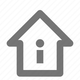 home, house, information icon