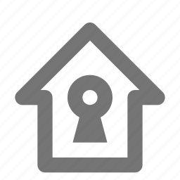 home, house, keyhole icon
