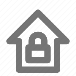 building, estate, home, house, lock, property, safe, security icon