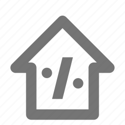 home, house, percent icon